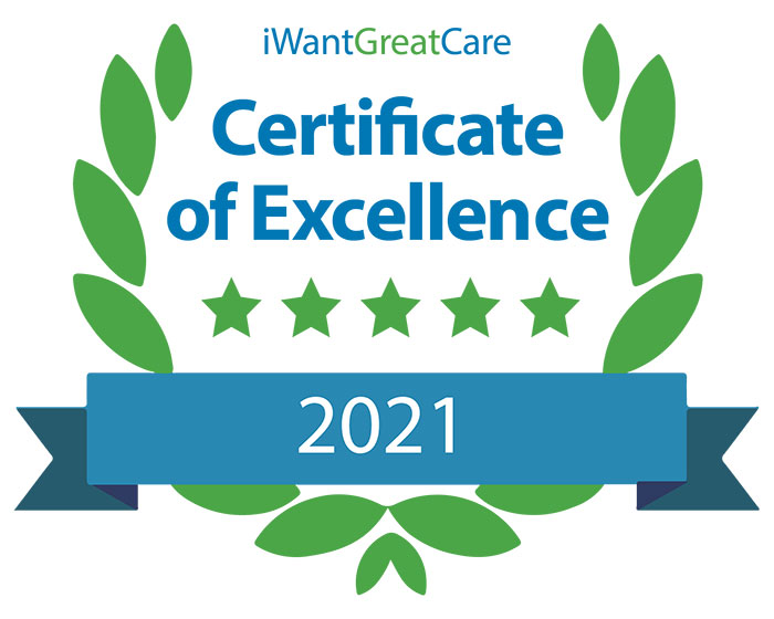 iwantgreatcare certificate of excellence 2021